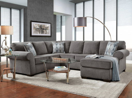 Charisma Smoke Sectional – 3050