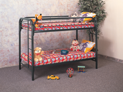 Black Twin Twin Bunkbeds – 333-434