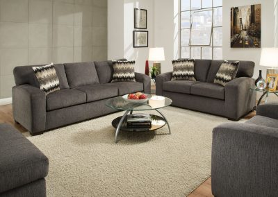 Perth Smoke Sofa & Loveseat