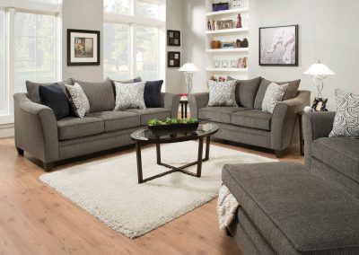 Albany Pewter Sofa & Loveseat