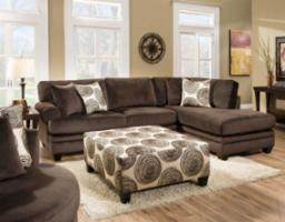 Groovy Chocolate Sectional – 8642