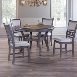 Gia Gray 5 Piece Dinette Set – D1701